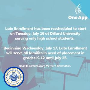 Late Enrollment at Dillard