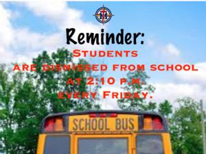 Early Dismissal Reminder